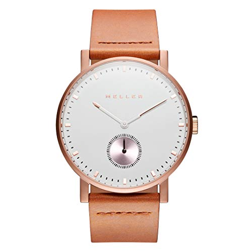 Meller Unisex Erwachsene Analog Quarz Uhr mit Leder Armband 2R-1CAMEL