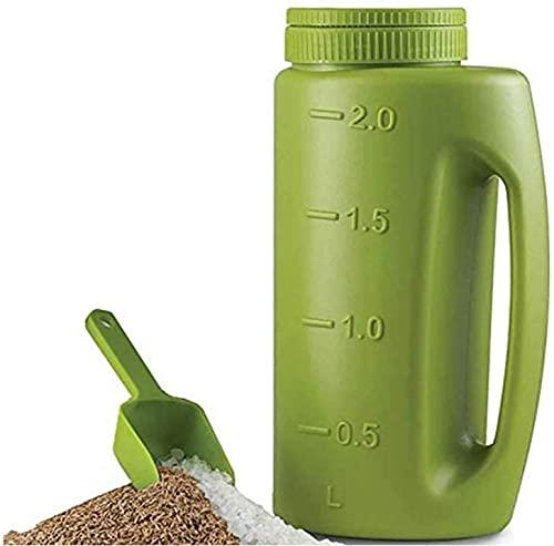 Mlian Handheld Spreader Zaden Dispenser Tool Plastic Verstelbare Tuin Container voor Zaadmeststof, Zout naar Deice of…