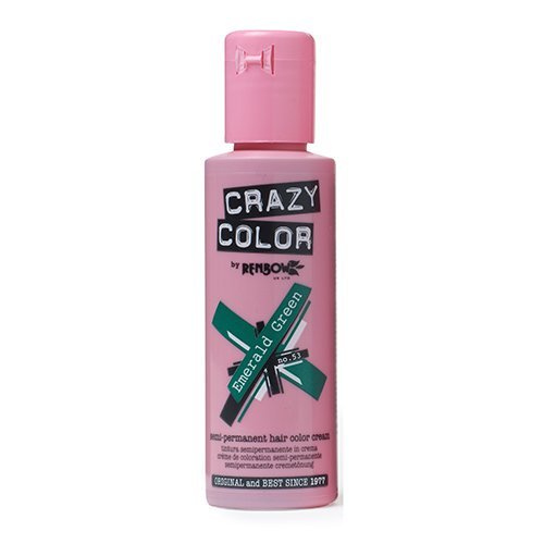 Crazy Color Emerald Green Nº 53 Crema Colorante del Cabello Semi-permanente