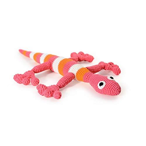 Lizard Pink. Giocattolo per bambini all'uncinetto