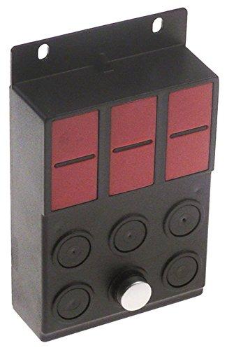 QualityEspresso-voetenmat toetsenbordeenheid voor espressomachine 1 knop rood lengte 106 mm breedte 76 mm