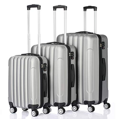 3-in-1 Multifunctional Large Capacity Traveling Storage Suitcase Silver Gray