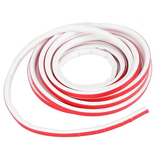 TEANQIkejitop Tira de Goma Antirrobo de Puerta Tipo D de Silicona 9X8mm 6M para Ventanas Tira de Sellado de Puertas Banda Anticolisión Banda de Aislamiento Acústico Productos Domésticos