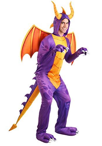 Spyro the Dragon Jumpsuit Costume Purple Dragon Video Game Costume for Adults Medium