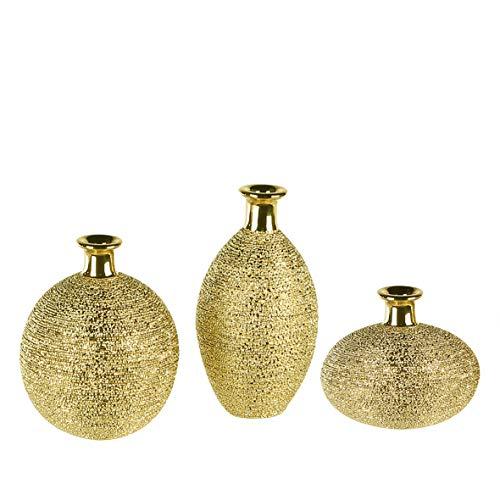 Casablanca vaas Osiris goudkleurig glas. gesorteerd.
