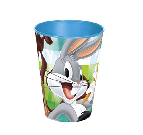 Familienkalender Disney Loony Toons Trinkbecher im Set Becher Bugs Bunny, Tweety, Duffy Duck, Tasmanischer Teufel blau 265 ml (1 Stück)