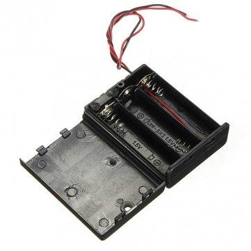 Pakhuis 3 x AA Batterie -Halter-Kasten Geschlossene Box Off/ON -Schalter mit Kabel