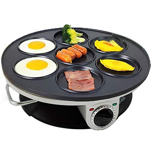 FengJ Crepe und Pancake-Maschine, Sieben-Loch Omelette Non-Stick Elektro-Omelette Stecker Elektroklein Omelette Rundmaschine