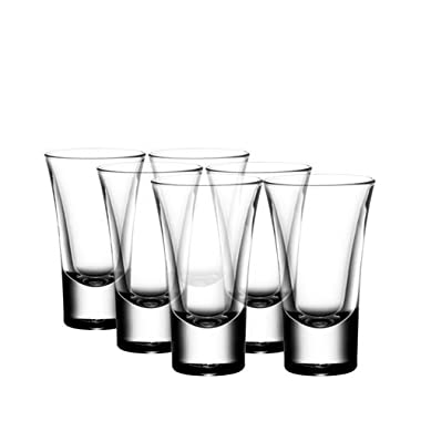 Gmark 2-Ounce Heavy Base Shot Glass Set, Whiskey Shot Glass 12-Pack GM2026