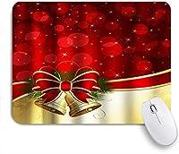 NIESIKKLAマウスパッド サンタクロースジングルベルメリークリスマスちょう結びの冬の休日 ゲーミング オフィス最適 高級感 おしゃれ 防水 耐久性が良い 滑り止めゴム底 ゲーミングなど適用 用ノートブックコンピュータマウスマット