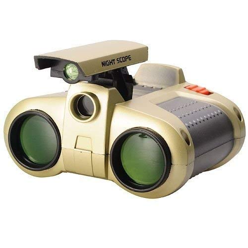 crzzyzone Binoculars for Kids Children Night Vision Device 4×30 Binoculars Night Scope with Pop-up Spotlight and Night-Beam Vision Focusing Telescope Night Vision Binoculars Goggles Fun Cool Toy Gift