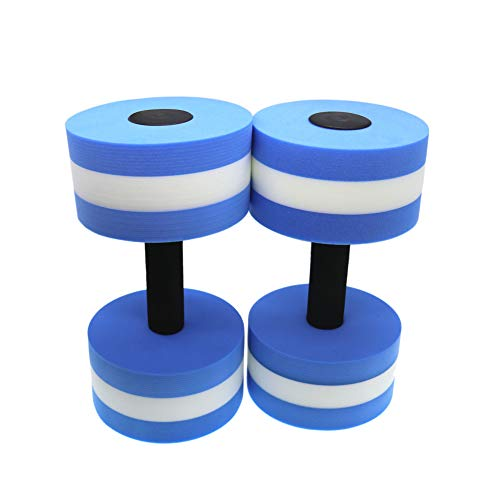 For Sale! QHALEN Water Aerobic Exercise Foam Dumbbell Pool Resistance,Water Aqua Fitness Barbells Ha...