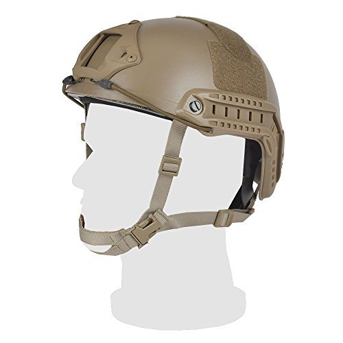 EMERSONGEAR Tactical Adjustable Fast Helmet,MH Style Helmet with Side Rails and NVG Mount,Fast MICH Ballistic Helmet for Airsoft Paintball Hunting Shooting Outdoor Sports (Coyote Brown)