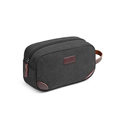 Cosmetic Bag for tragbare Mann kosmetische Beutel-beiläufige Reise Make Up Wash Aufbewahrungstasche Business-Kulturtasche Frauen Beauty Make Up Bag-Brown- HAIKE (Color : Black, Size : Size)