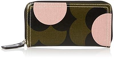 Orla Kiely Shiny Laminated Shadow Flower Print Big Zip Wallet Wallet