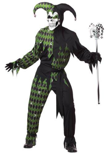 California Costumes Déguisement d'Arlequin diabolique Vert Homme Halloween - Vert - XL
