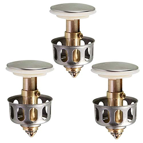 3 Stück Universal Waschbecken Bounce Drain Filter, Pop Up Waschbecken Ablassschraube, Für Küche Waschbecken Waschbecken