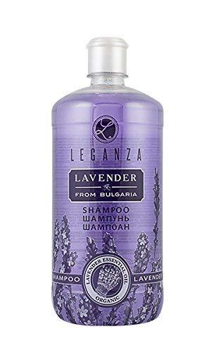 Shampoo mit Organischem ätherischem Lavendelöl, von Leganza für Fettiges Haar oder Empfindliche Kopfhaut 1000 ml Ohne Parabene Ohne Silikone