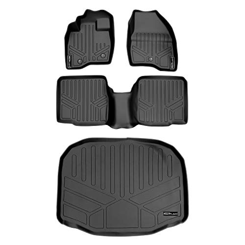 MAXLINER Floor Mats 2 Rows and Cargo Liner Behind 3rd Row Set Black for...