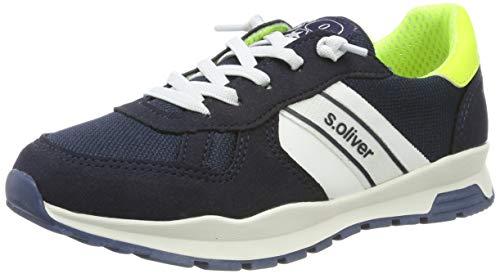 s.Oliver Jungen 5-5-43109-22 892 Sneaker, Navy/Neon Yell, 37 EU