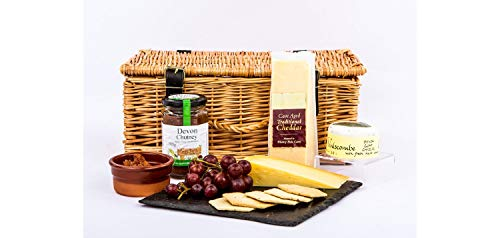Devon Cheese and Biscuits Hamper - Standard Box