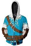 MingoTor Sudadera con Capucha The Legend of Zelda Sweatshirt Hoodie impresión Pulli Tops Chaqueta Camisa de Jersey Chaqueta de Sudor Outwear Tops Hoodies Jumper Capsule Unisexo