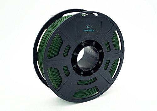 Kaisertech Filament für 3D Drucker 1kg PLA 1,75mm Tannengrün - Premium Qualität Spule Rolle