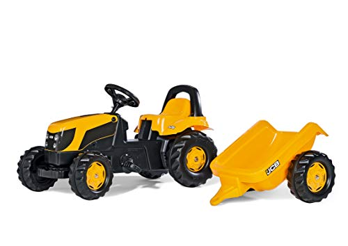 Fantastic Deal! rolly toys JCB Pedal Farm Tractor with Detachable Trailer, Youth Ages 2.5+