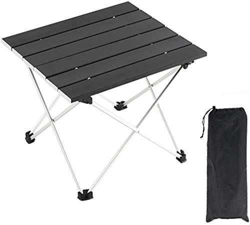 Picknicktisch im Freien Tragbarer Aluminium-Camping-Tisch-Falten-Camping-Esstisch mit Tragetasche ausklappbar Tischplatte für den Außenbereich, Picknick, Grill, Camping, Strand Grill Party Tisch