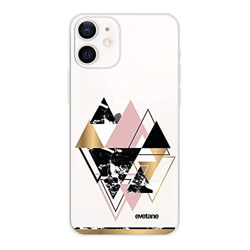 Schutzhülle für iPhone 12 Mini (5,4 Zoll / 14,7 cm), Dreiecke goldfarben