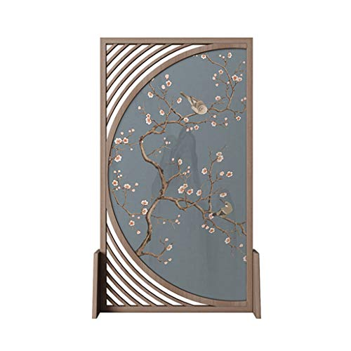 Best Review Of Room Screen Even Oriental Free Standing, Characteristic Hollow Design Solid Wood Scre...