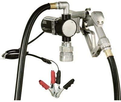 Roughneck 12V Fuel Transfer Pump - 8 GPM, Manual Nozzle, Hose
