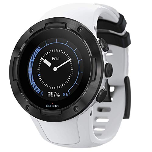 SUUNTO 5, Lightweight and Compact GPS Sports Watch with 24/7, Activity Tracking and Wrist-Based Heart Rate - White/Black, One Size