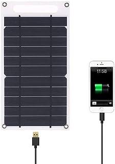 ليكسادا 7.8 واط شاحن لوحة شمسية منفذ يو إس بي محمول رفيع للغاية من السيليكون البلوري للتخييم للهاتف الخلوي