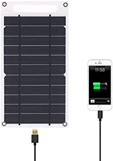 Lixada Solar Panel Charger USB Port Portable High Power Paper Shaped Monocrystalline Silicon for Cell Phone Camping Hiking Travel