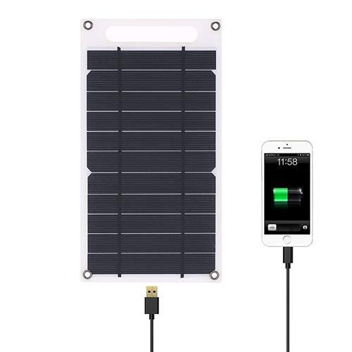 Lixada 7,8W Cargador Solar, cargador con panel solar portátil, teléfonos inteligentes y otros dispositivos USB para teléfono móvil al aire libre Camping Escalada Senderismo