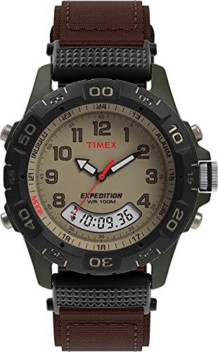 Timex Men 's T45181Expedition resina Combo Reloj de correa de nailon café