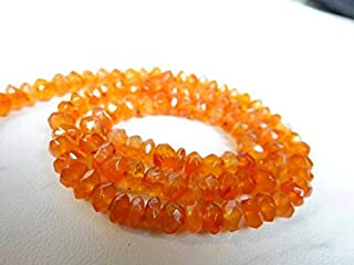 Jewel Beads Natural Beautiful jewellery Orange Carnelian faceted rondelle beads/5mm/14 inch strandCode:- JBB-48881