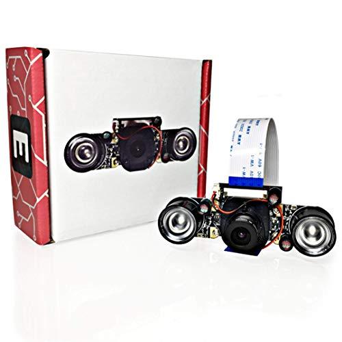Electreeks® Raspberry Pi Kamera Modul mit Automatik Infrarot-Sperrfilter - Full HD mit Infrarot LEDs (75,5° Standard-Objektiv)