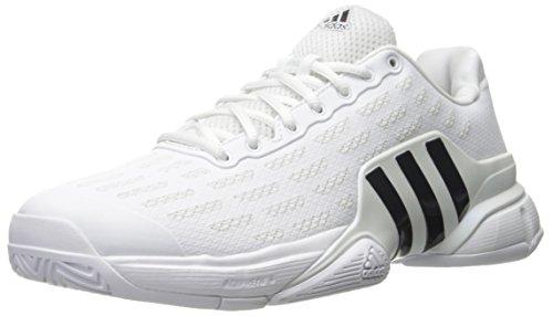 adidas Men's Barricade 2016 Tennis Shoes, White/Collegiate Navy/Kurz Silver Foil, ((9 M US)