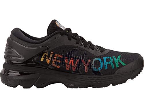 ASICS Gel-Kayano 25 NYC - Zapatillas de correr para mujer, Negro (Negro/Negro), 40 EU