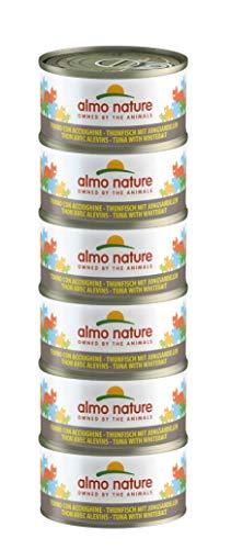 Almo Nature Mega Pack -Tonno e Acciughine, Cibo Umido per gatti adulti 100% Naturale. Confezione da 6 lattine x 70g