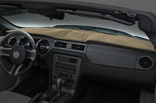Coverking Custom Fit Dashboard Cover for Select Toyota Tundra Models - Suede (Beige)