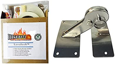 Total Control BBQ Stainless Hinge & Gasket Kit for Weber Smokey Mountain WSM Smoker Grill 18.5 22.5
