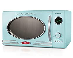 best retro microwave - aqua