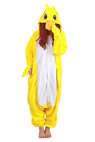 wotogold Damen Tier Ente Pyjamas Cosplay Kostüme Medium Gelb