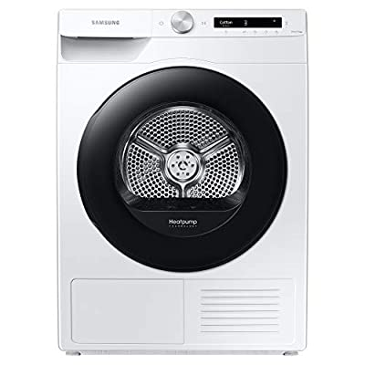 Samsung DV90T5240AW/S1 Freestanding Heat Pump Tumble Dryer with Optimal Dry™ and SmartControl+, 9kg Load, White