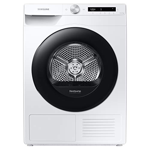 Samsung Series 5+ DV90T5240AW/S1 with OptimalDry™, Heat Pump Tumble Dryer, 9 kg, White, A+++ Rated