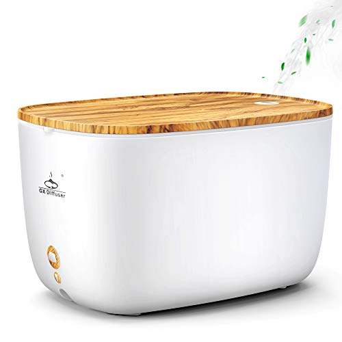 GX·Diffuser 2L Essential Oil Diffuser,5 in 1 Ultrasonic Humidifier for Room,Kitchen,Spa & Office,Waterless Auto-Off,14 LED Light Colors