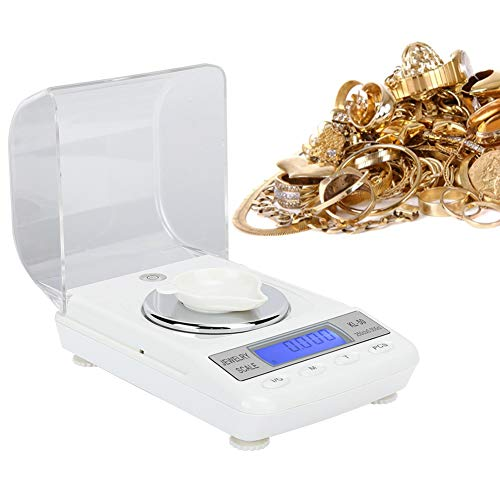0.001g Measurement Tool, High‑precision Portable Pocket Electronic Scale, Multifunction Jewelry Scale, for Necklace Ring(50g/0.001g+power cord)